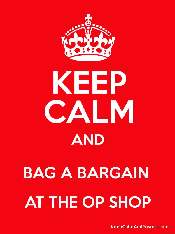 keep calm and op shop